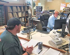 K101 AM Show hosts Max Hodgdon (left) and Rick Freitag (right)