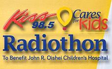 Kiss 98.5 Cares for Kids Radiothon