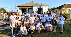 Beasley Media Group/Fort Myers: Beasley Media Group's Fort Myers, FL, cluster and corporate staff recently volunteered at the Habitat for Humanity's home sites in Collier County. The effort was part of the company's Community of Caring Initiative. While there, team members learned about the history of Habitat for Humanity of Collier County and contributed their skills. Pictured is the entire on-site team.