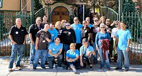 Beasley Media Group: Employees from Beasley Media Group's Las Vegas cluster recently rolled up their sleeves to volunteer at Opportunity Village, a non-profit organization which serves adults in Southern Nevada. Team members lent a helping hand by changing out decorations for the Halloween/Christmas transition at Opportunity Village's ''Magical Forrest.''