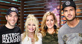Cumulus Media: The one and only Dolly Parton joined Ty, Kelly and Chuck in-studio in Nashville to talk about her latest Netflix project, ''Dumplin','' which led her to working with Jennifer Aniston and Sia. Ty, Kelly and Chuck also chatted with Dolly about her Imagination Library and her most embarrassing moment. L-R: Ty Bentli, Dolly Parton, Kelly Ford and Chuck Wicks.