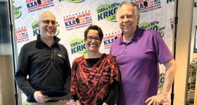 KRKO-AM/Seattle: Mayor Cassie Franklin proclaimed April 17 as ''KRKO Day'' in Everett, WA. KRKO is celebrating it 97th year of broadcasting. L-R: KRKO owner Andy Skotdal, Mayor Cassie Franklin and morning personality Tim Hunter.