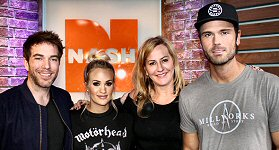 NASH FM: It was a Carrie Takeover when Carrie Underwood stopped by Ty, Kelly and Chuck's studios at the NASH Campus in Nashville. The trio talked to Carrie about her new song and album ''Cry Pretty'' and what it was like for her being out of the public eye for six months after her fall. L-R: Ty Bentli, Carrie Underwood, Kelly Ford and Chuck Wicks.