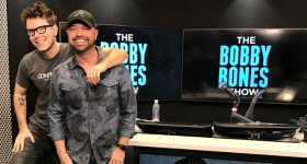 Premiere Networks: Radio and CMT personality Cody Alan, host of CMT After MidNite and CMT Radio Live, stopped by The Bobby Bones Show this week. A fellow Nashville-based, Premiere Networks-syndicated personality, Alan discussed with Bones his journey to radio and TV, as well as his introduction to Country music and the first concert he attended. L-R: Bobby Bones and Cody Alan in The Bobby Bones Show studio in Nashville.