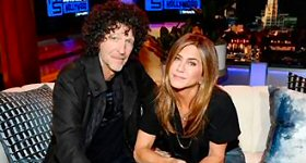 SiriusXM: Howard Stern commemorated the official grand opening of SiriusXM Hollywood Studios this week, welcoming some of the biggest stars in entertainment for news-making interviews, comedy and live performances. Stern's first West Coast broadcast in almost 20 years kicked off with guests Jennifer Aniston, Robert Downey, Jr., Jimmy Kimmel, Adam Levine and Arnold Schwarzenegger. L-R: Howard Stern and Jennifer Aniston.