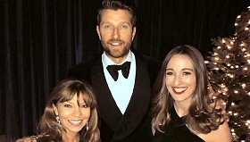 WBWL-FM/Boston: WBWL Program Director Ginny Brophey and WBWL midday host Jessica Callahan with Brett Eldredge at his sold out ''Glow'' holiday concert Tuesday night at the Beacon Theater in New York.