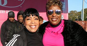 iHeartMedia/Chicago: As part of their ongoing support of National Breast Cancer Awareness month, ''The Steve Harvey Morning Show's'' Shirley Strawberry and Carla Ferrell joined more than 4,000 in the 2018 Sista Strut Breast Cancer Walk in Chicago this past weekend. L-R: Shirley Strawberry (left) and Carla Ferrell (right) participate in the walk in Chicago with iHeartMedia affiliate V103.