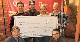 WNSH-FM/New York: NASH FM 94.7 in New York raised a total of $154,429 for Children's Miracle Network through its ''Miracle for the Kids'' live radio broadcast on Friday, December 14. Left to Right, Top Row: Ty, Kelly and Chuck's Ty Bentli and Chuck Wicks, and NASH FM 94.7 personalities Katie Neal and Jesse Addy. Left to Right, Bottom Row: NASH FM 94.7 Program Director John Foxx and Assistant Program Director Mike Allan.