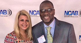 WZFX-FM/Fayetteville: WZFX was named Station of the Year/Medium Market at the 2018 North Carolina Association of Broadcasters Annual Awards Luncheon. The event took place on Thursday, June 14th at Bay 7 in Durham, NC. L-R: Erika Beasley/Beasley Media Group Fayetteville VP & Market Manager with WZFX Program Director Tap Money at NCAB Annual Awards.