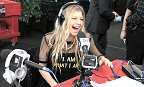 Westwood One: Black-eyed Peas singer and eight-time Grammy-winner Fergie has a laugh during a station interview at Westwood One's